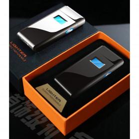 DAROBTL Korek Api Elektrik Pulse Plasma Touch LED Display - JL618 - Black - 3
