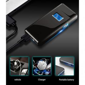 DAROBTL Korek Api Elektrik Pulse Plasma Touch LED Display - JL618 - Black - 4