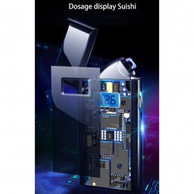 DAROBTL Korek Api Elektrik Pulse Plasma Touch LED Display - JL618 - Black - 6