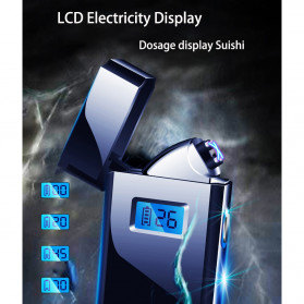 DAROBTL Korek Api Elektrik Pulse Plasma Touch LED Display - JL618 - Black - 7