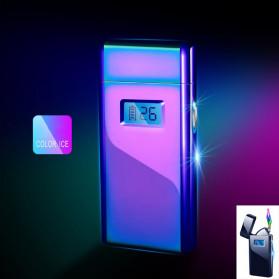 DAROBTL Korek Api Elektrik Pulse Plasma Touch LED Display - JL618 - Blue