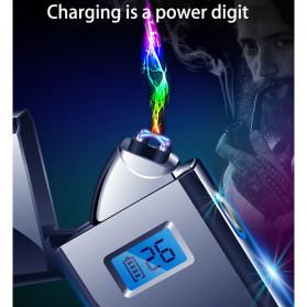 DAROBTL Korek Api Elektrik Pulse Plasma Touch LED Display - JL618 - Blue - 3