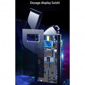 DAROBTL Korek Api Elektrik Pulse Plasma Touch LED Display - JL618 - Blue - 4
