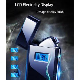 DAROBTL Korek Api Elektrik Pulse Plasma Touch LED Display - JL618 - Blue - 5