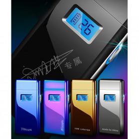 DAROBTL Korek Api Elektrik Pulse Plasma Touch LED Display - JL618 - Blue - 6