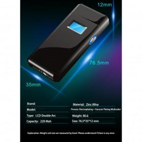 DAROBTL Korek Api Elektrik Pulse Plasma Touch LED Display - JL618 - Blue - 7