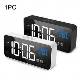 HOUSEEN Jam Weker Alarm Digital + Temperature Voice Control - TX610 - Black