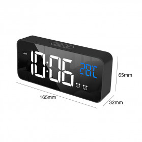 HOUSEEN Jam Weker Alarm Digital + Temperature Voice Control - TX610 - Black - 2