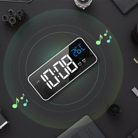 HOUSEEN Jam Weker Alarm Digital + Temperature Voice Control - TX610 - Black - 7