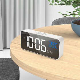 HOUSEEN Jam Weker Alarm Digital + Temperature Voice Control - TX610 - Black - 8