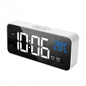 HOUSEEN Jam Weker Alarm Digital + Temperature Voice Control - TX610 - Black - 9