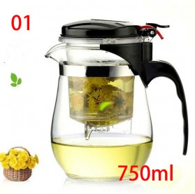 Homadise Teko Pitcher Teh Chinese Teapot Maker 750ml - TP-758 - Transparent - 1