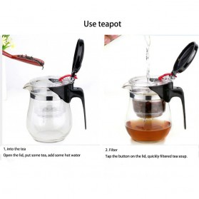 Homadise Teko Pitcher Teh Chinese Teapot Maker 750ml - TP-758 - Transparent - 6