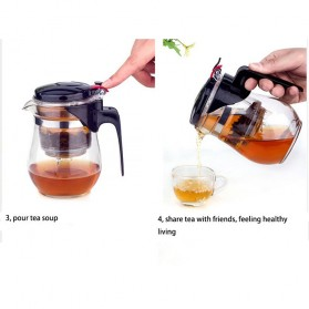 Homadise Teko Pitcher Teh Chinese Teapot Maker 750ml - TP-758 - Transparent - 9