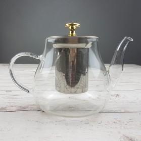 Homadise Teko Pitcher Teh Chinese Teapot Maker 600ml - TP-760 - Transparent