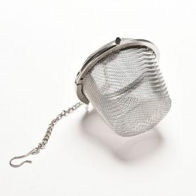 JETTING Filter Saringan Teh Reusable Tea Infuser Strainer 45mm - WLC400 - Silver - 10