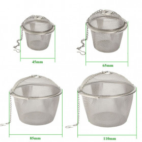 JETTING Filter Saringan Teh Reusable Tea Infuser Strainer 45mm - WLC400 - Silver - 3