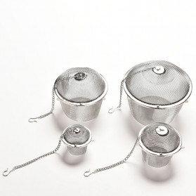 JETTING Filter Saringan Teh Reusable Tea Infuser Strainer 45mm - WLC400 - Silver - 5