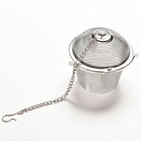 JETTING Filter Saringan Teh Reusable Tea Infuser Strainer 45mm - WLC400 - Silver - 6