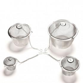 JETTING Filter Saringan Teh Reusable Tea Infuser Strainer 45mm - WLC400 - Silver - 7