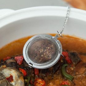 JETTING Filter Saringan Teh Reusable Tea Infuser Strainer 70mm - K520 - Silver - 2