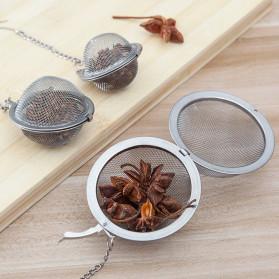 JETTING Filter Saringan Teh Reusable Tea Infuser Strainer 70mm - K520 - Silver - 3