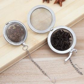JETTING Filter Saringan Teh Reusable Tea Infuser Strainer 70mm - K520 - Silver - 4