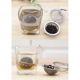 JETTING Filter Saringan Teh Reusable Tea Infuser Strainer 70mm - K520 - Silver - 6