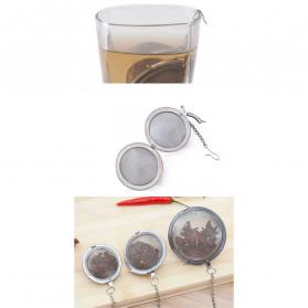 JETTING Filter Saringan Teh Reusable Tea Infuser Strainer 70mm - K520 - Silver - 7