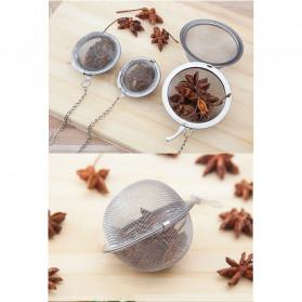 JETTING Filter Saringan Teh Reusable Tea Infuser Strainer 70mm - K520 - Silver - 8