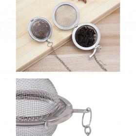 JETTING Filter Saringan Teh Reusable Tea Infuser Strainer 70mm - K520 - Silver - 9