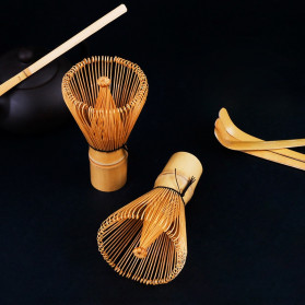 Bo Zhu Kuas Pengaduk Matcha Green Tea Bamboo Whisk Brush - CJ110 - Brown