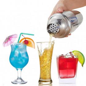 UPORS 6 in 1 Bartender Drink Bar Set Cocktail Shaker Stainless Steel 750ml - BA016 - Silver - 7