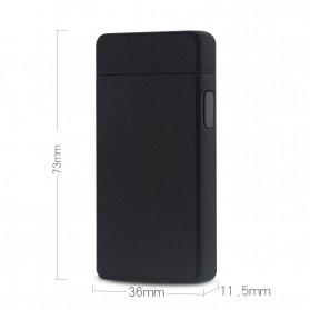 LCFUN Korek Api Elektrik Double Pulse Plasma Arc Lighter USB Rechargeable - F130015 - Black - 2