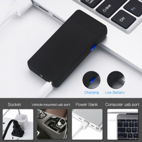 LCFUN Korek Api Elektrik Double Pulse Plasma Arc Lighter USB Rechargeable - F130015 - Black - 3