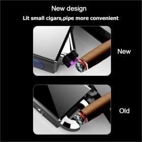 LCFUN Korek Api Elektrik Double Pulse Plasma Arc Lighter USB Rechargeable - F130015 - Black - 4