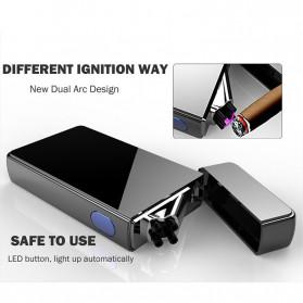 LCFUN Korek Api Elektrik Double Pulse Plasma Arc Lighter USB Rechargeable - F130015 - Black - 9