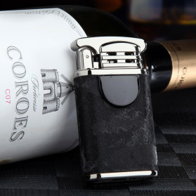 JOBON Korek Api Elektrik Pulse Plasma Cross Double Arc Lighter - ZB-170B - Black