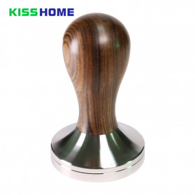Kisshome Tamper Kopi Espresso Flat Stainless Steel Chrome Plated 51mm - KH-177 - Silver
