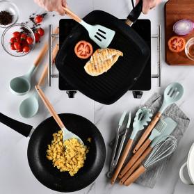 GLANYOMI Cooking Tools Set Spatula Alat Masak Dapur Kitchen Utensils Silicon 9 PCS - KT397 - Blue - 2