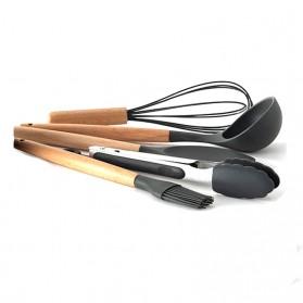 GLANYOMI Cooking Tools Set Spatula Alat Masak Dapur Kitchen Utensils Silicon 9 PCS - KT397 - Blue - 5