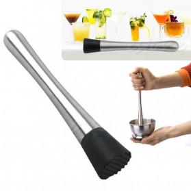 Winnereco Alat Tumbuk Muddler Crushed Bar Mixer Mojito DIY Cocktail Tools - 777F - Silver