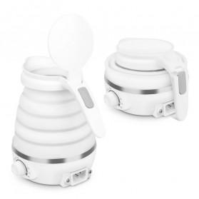 VIBILI Electric Kettle Teko Listrik Foldable Collapsible 600ML 800W - FS-01 - White