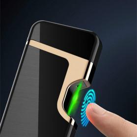 Firetric Korek Api Elektrik Pulse Plasma Arc Lighter Touch Sensor Elegant Design - JL809 - Black - 2