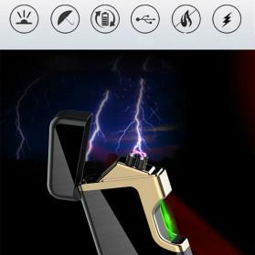 Firetric Korek Api Elektrik Pulse Plasma Arc Lighter Touch Sensor Elegant Design - JL809 - Black - 7