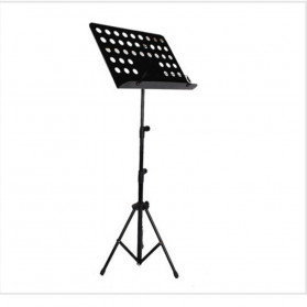 Elbro Stand Partitur Triangle Iron Frame Professional Folding Orchestra Sheet Musik - P-09 - Black