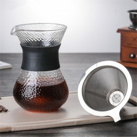OHFIN Coffee Maker Pot V60 Drip Kettle Teko Kopi 200ml with Filter - SE112