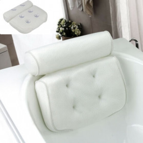 LemonBest Bantal Sandaran Bathtub SPA Pillow Cushion Neck Back Support - SPC3D - White