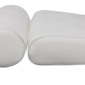 LemonBest Bantal Sandaran Bathtub SPA Pillow Cushion Neck Back Support - SPC3D - White - 10