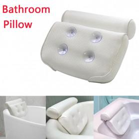 LemonBest Bantal Sandaran Bathtub SPA Pillow Cushion Neck Back Support - SPC3D - White - 3